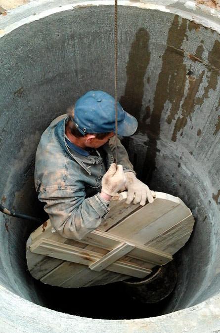 Как мы выполняем чистку колодца в Краснознаменске