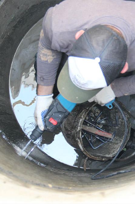 Как мы выполняем ремонт колодцев в Краснознаменске